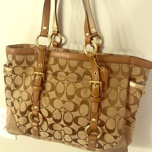 Coach Tan Shoulder Tote